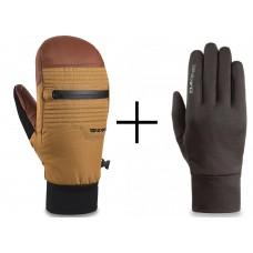 Dakine Skyline Mitt Glove Ski/Snowboard Red Earth/Caramel