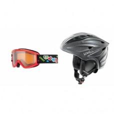 Set kids ski/snowboard goggles + helmet Uvex