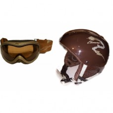 SET  helmet + goggles for ski helmet  CARRERA