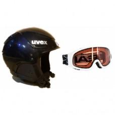 Ski/snowboard helmet  UVEX + goggles  HEAD Icon D