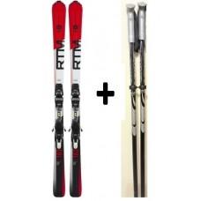 Ski Volkl RTM 7.4 + bind. Marker 10 + poles
