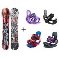 Snowboard HEAD Matrix Rocka+ bind.