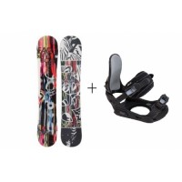 Snowboard HEAD Matrix Rocka+ bind.